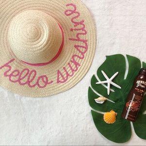 Hello Sunshine Large Floppy Beach Hat